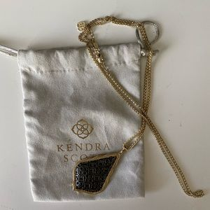 Kendra Scott Aiden Gold and Gunmetal Necklace
